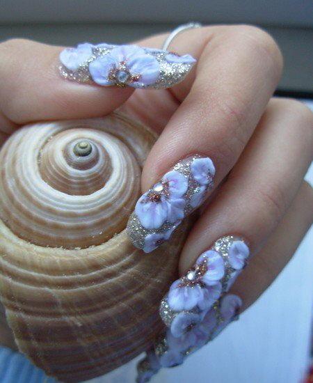 Наращивание ногтей красиво